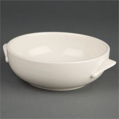 Olympia U136 Ivory Handled 425ml Soup Bowls (Pack of 12)