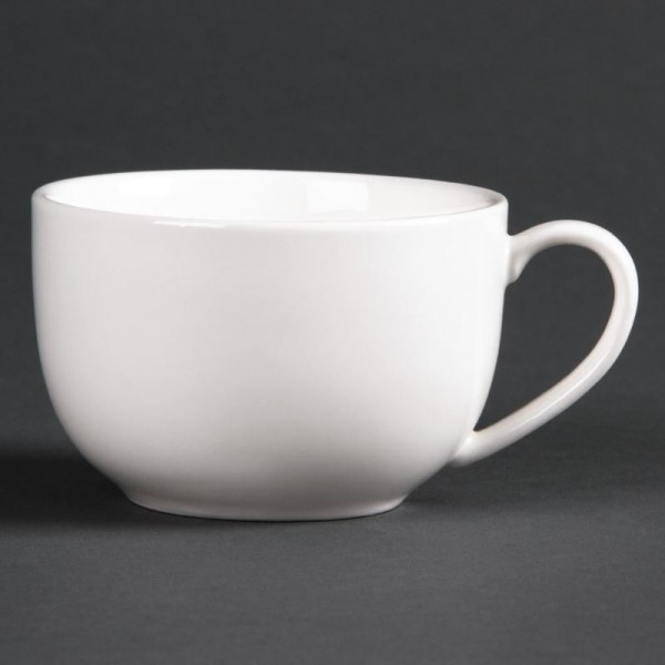 Lumina 4oz Fine China Low Round Espresso Cups (Pack of 6)