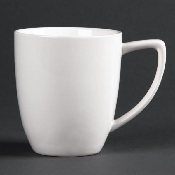 Lumina 12oz Fine China Latte Mugs (Pack of 6)