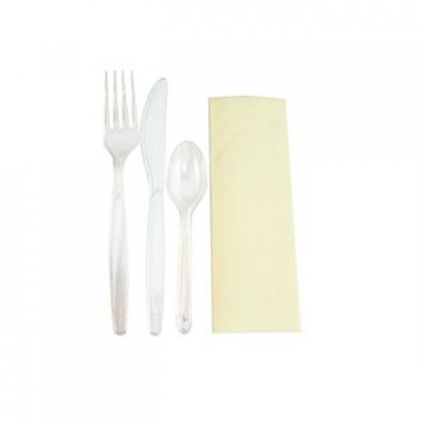 Deluxe Plastic Cutlery Meal Pack (Pack of 200)