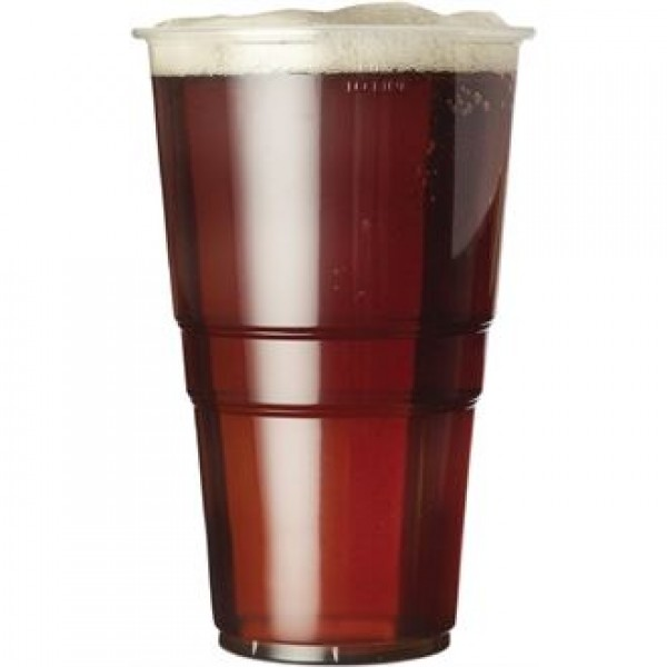 Disposable U384 20z to Line Pint Glass