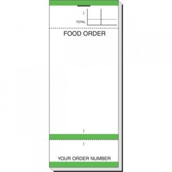 Bar Food Order Check Pad