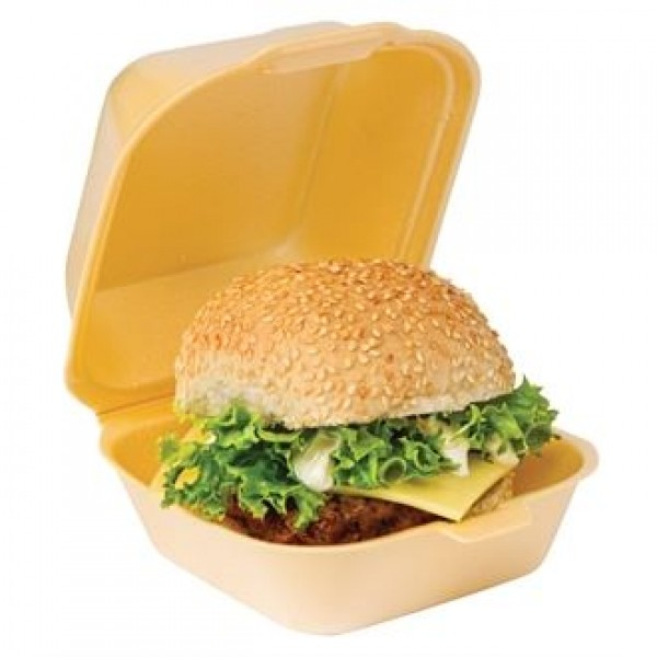 Large Foam Clamshell Burger Boxes (Pack of 500)