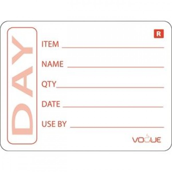 Vogue E148 Prepped Product Labels (Roll of 500)