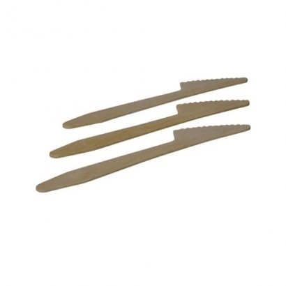 Environmentally Friendly Wooden Disposable Knives (Pack of 250)