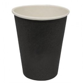 Olympia Disposable Hot Drinks Cups Black 8oz x 50