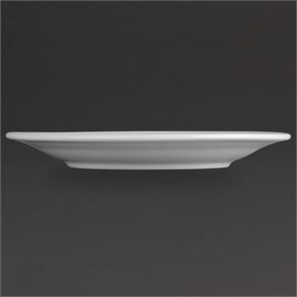 """Athena Hotelware 12 Pack CC206 6.5"""" Wide Rimmed Plates"""