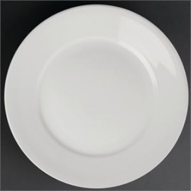 """Athena Hotelware 12 Pack CC208 9"""" Wide Rimmed Plates"""
