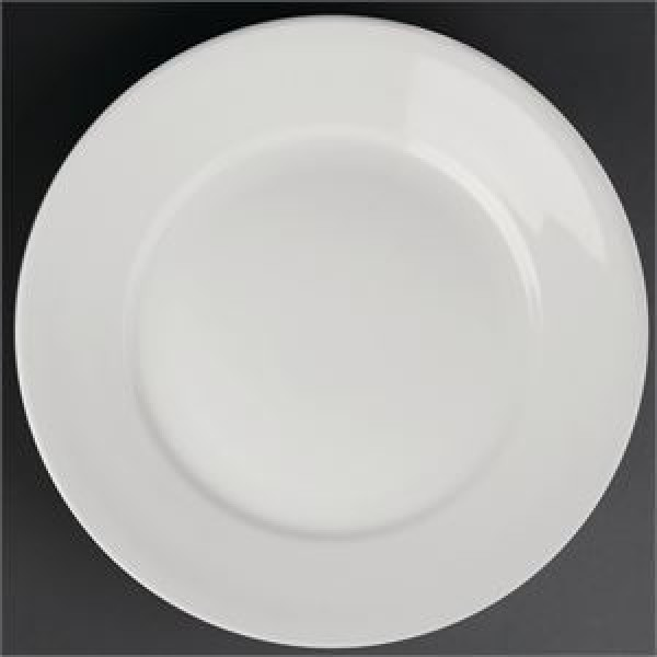 "Athena Hotelware 12 Pack CC207 8"" Wide Rimmed Plates"