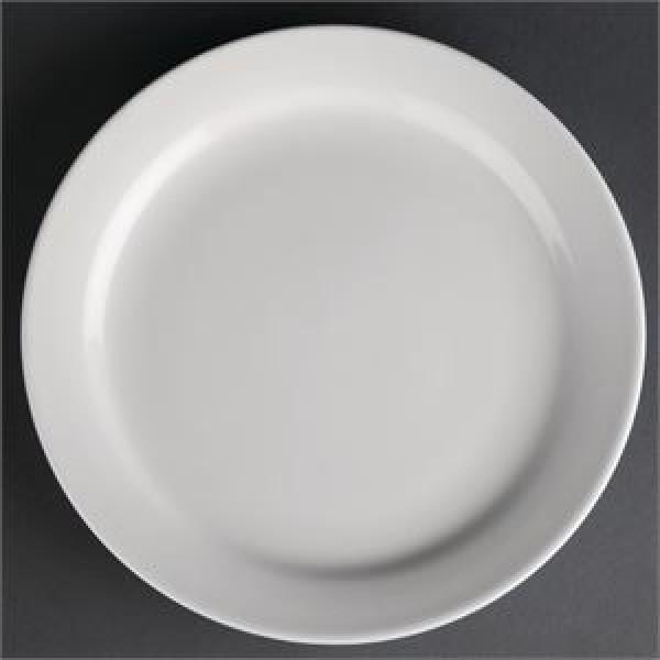 """Athena Hotelware 12 Pack CF364 10"""" Narrow Rimmed Plates"""