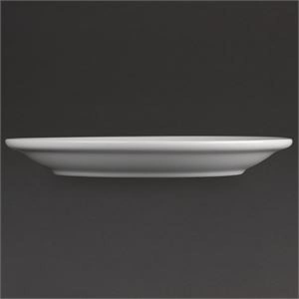 """Athena Hotelware 12 Pack CF360 6.5"""" Narrow Rimmed Plates"""