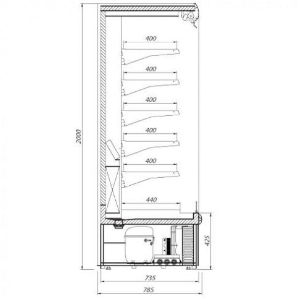 Alpine RYGA-130-80 1.3m Multideck