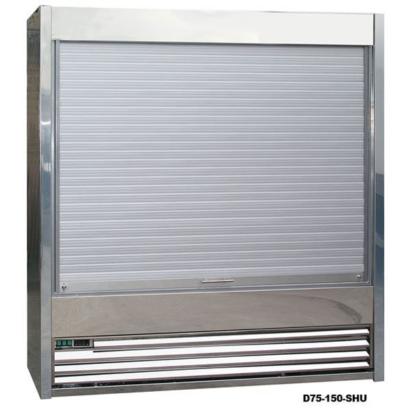 Frost Tech SD75-250-SHU 2.5m Stainless Steel Shutter Multideck