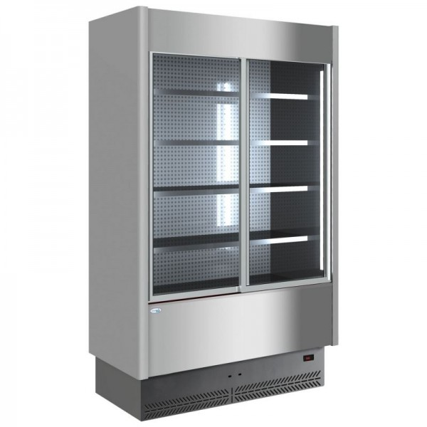 Interlevin SP60-150X + Doors 1.6m Stainless Steel Slimline Multideck