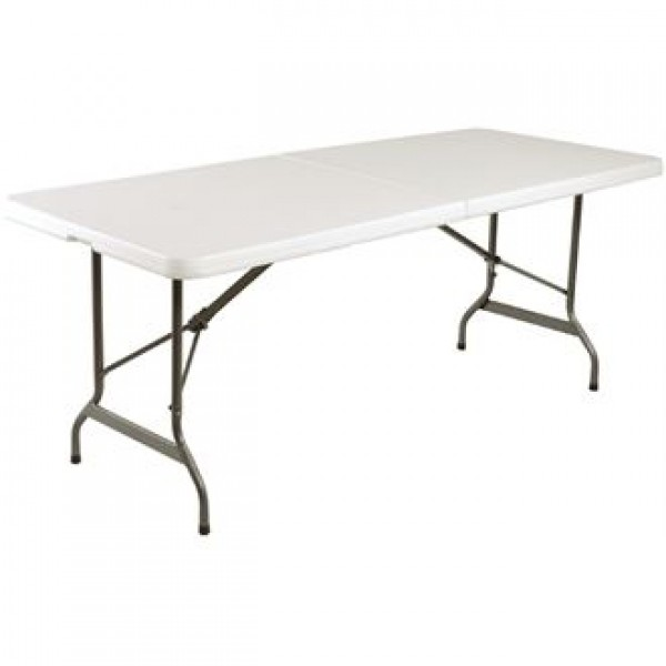 Bolero 6ft Centre Folding White Utility Table