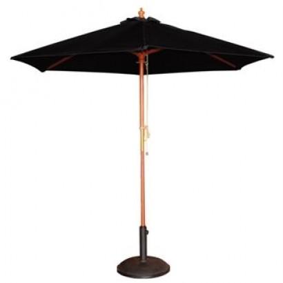 Bolero Black 3m Diameter Round Parasol