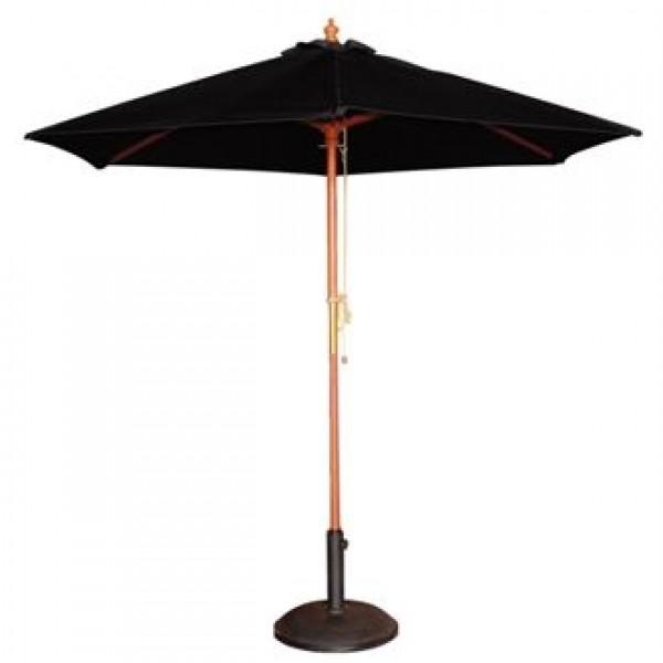 Bolero Black 2.5m Diameter Round Parasol