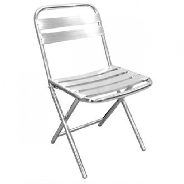 Bolero Folding Aluminium Chairs (Pack of 4)