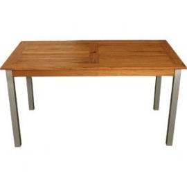 Bolero Teak & Aluminium Rectangular Table