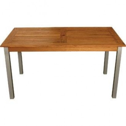 Bolero Teak & Aluminium Rectangular Table