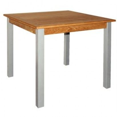 Bolero Teak & Aluminium Square Table