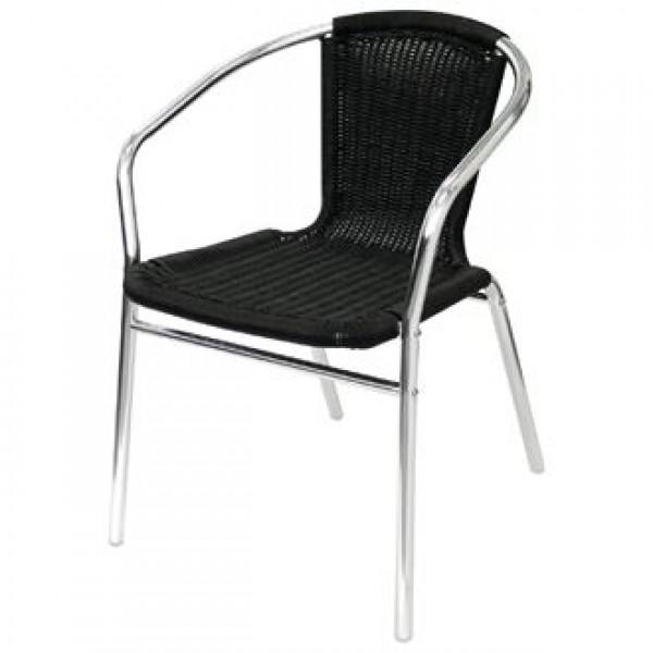 Bolero Aluminium & Wicker Chair (Pack of 4)