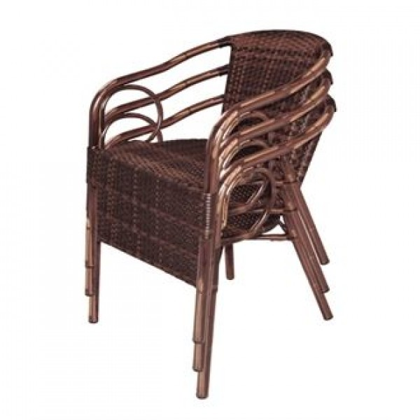 Bolero CB061 Wicker Armchair (Pack of 4)