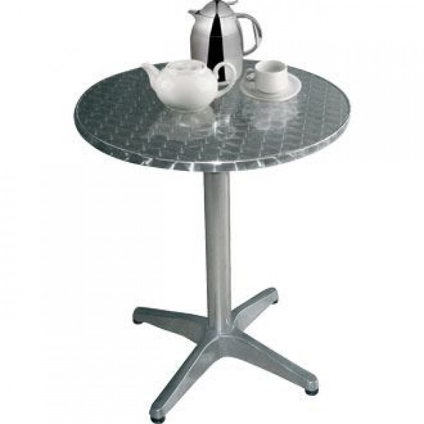 Bolero U425 Stainless Steel Round Pedestal Table