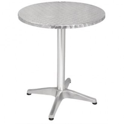 Bolero U425 Stainless Steel Round Pedestal Table