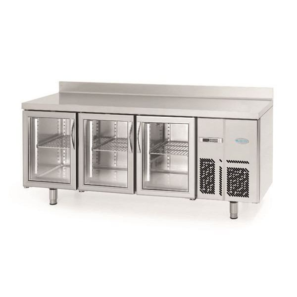 Infrico 700 BMGN 1470 CR Glass Door Fridge Counter