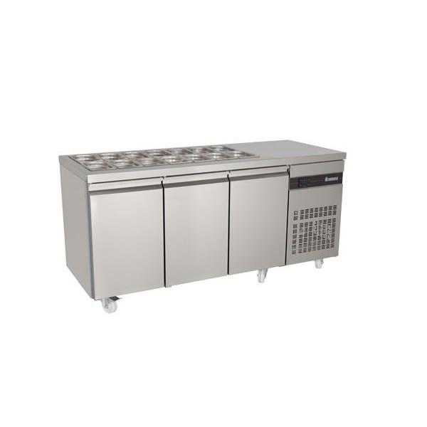 INOMAK ZN999 Triple Door Saladette Counter