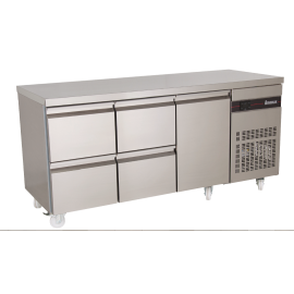 Inomak PN229 1.8m Four Drawer Single Door Fridge Counter