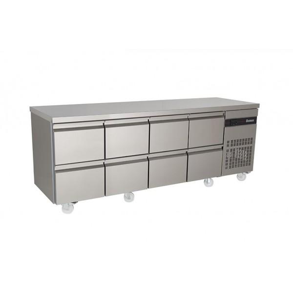 Inomak PN2222 2.2m Eight Drawer Fridge Counter