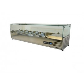 Blizzard TOP1500CR Glass Canopy 1.5m Counter Top Preparation Unit