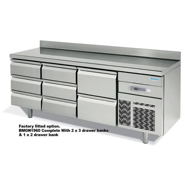 Infrico 700 BMGN 1470 2 Door  Fridge Counter
