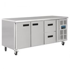Polar GD874 417 Litre 2 Door & 2 Drawers Refrigerated Counter