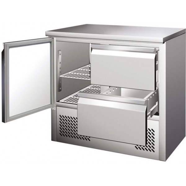 Blizzard BCC2-2D Compact Counter with 2 Drawers