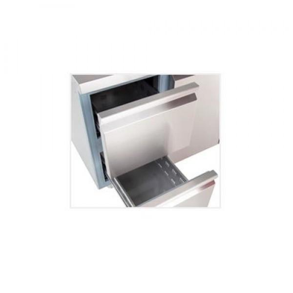 Inomak PN29 1.3m Double Drawers Single Door Fridge Counter