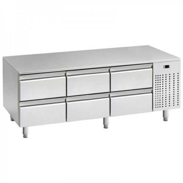 Mercatus U1-1600 1.6m Low Height Stainless Steel Gastronorm Counter