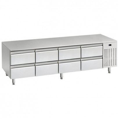 Mercatus U1-2000 2m Low Height Stainless Steel Gastronorm Counter
