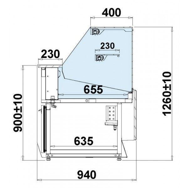 Igloo Sumba 15 Flat Glass 1.5m Serve Over Counter