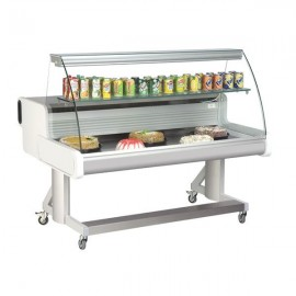 Frilixa Celebrity 150 1.5m Curved Glass Mobile Counter Display