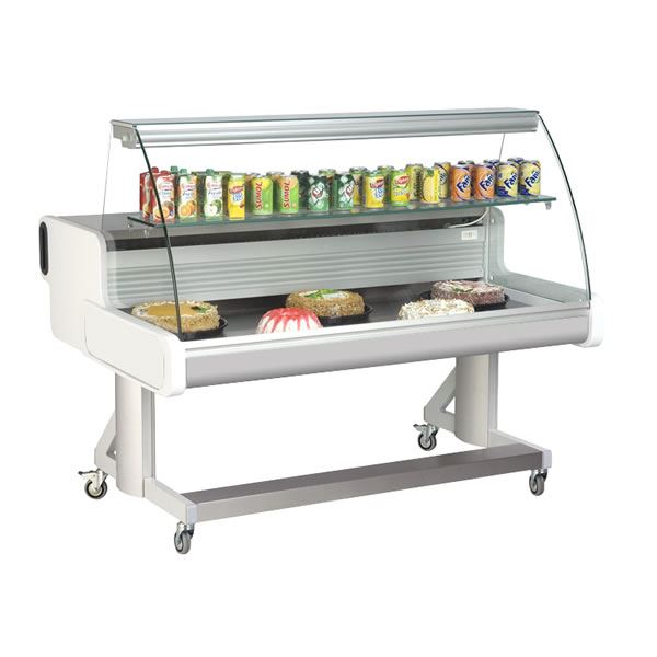 Frilixa Celebrity 200 2.0m Curved Glass Mobile Counter Display