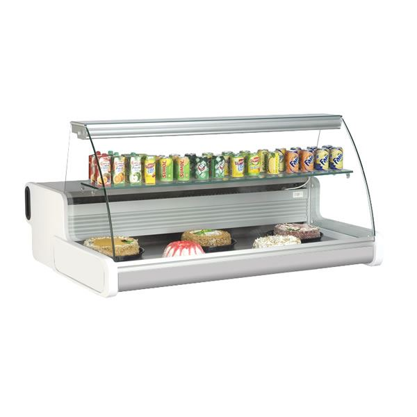Frilixa Celebrity 100 1m Curved Glass Mobile Counter Display