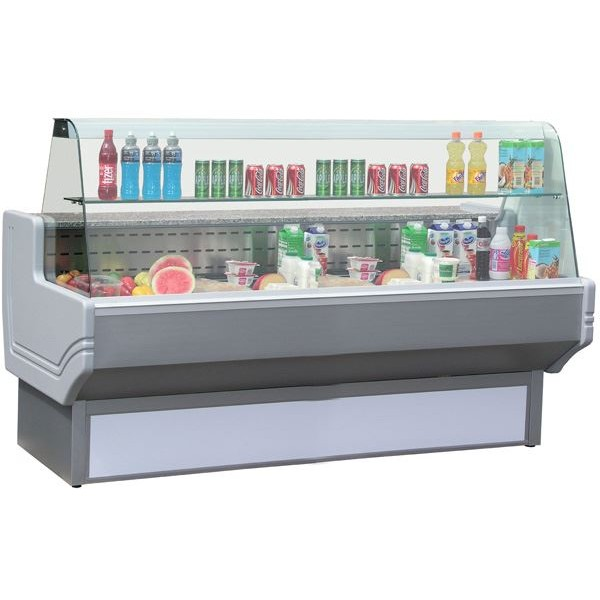 Blizzard SHAD80-250 2.5m Slimline Curved Glass Serve Over Counter