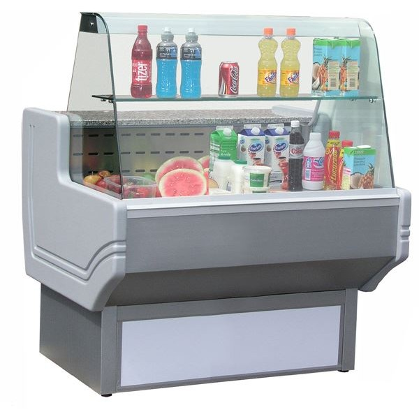 Blizzard SHAD80-100 1m Slimline Curved Glass Serve Over Counter