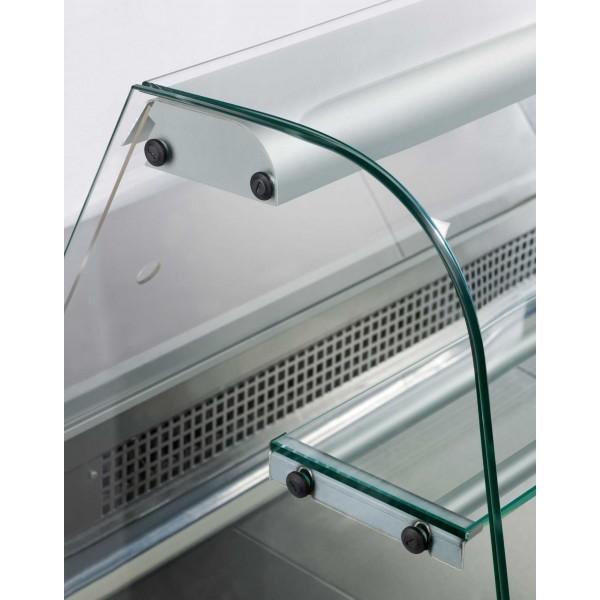 Igloo Rota 250 2.5m Slimline Curved Glass Serve Over Counter