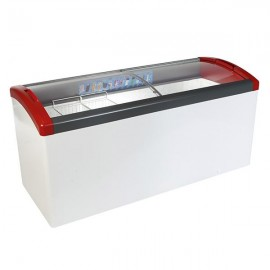 Elcold Focus 171 Sliding Curved Glass Lid Chest Freezer