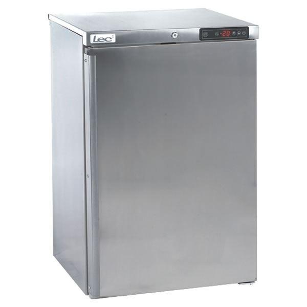 LEC CU157S Stainless Steel Single Door Undercounter Freezer