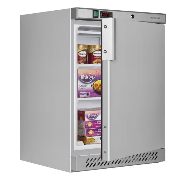 Tefcold UF200S 140 Litre Stainless Steel Undercounter Freezer